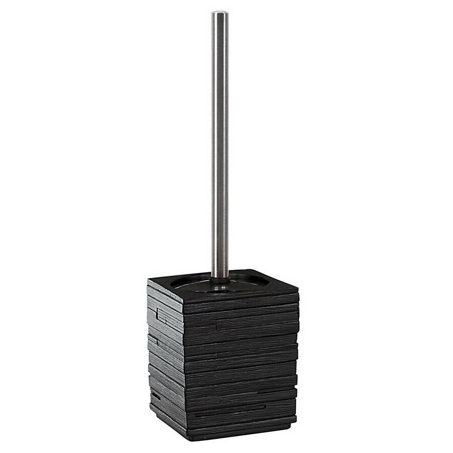 Nameeks Gedy Quadrotto Black Plastic Toilet Brush Holder
