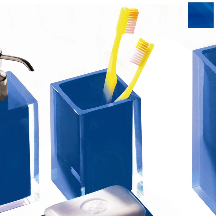 Nameeks Gedy Rainbow Blue Plastic Tumbler and Toothbrush Holder