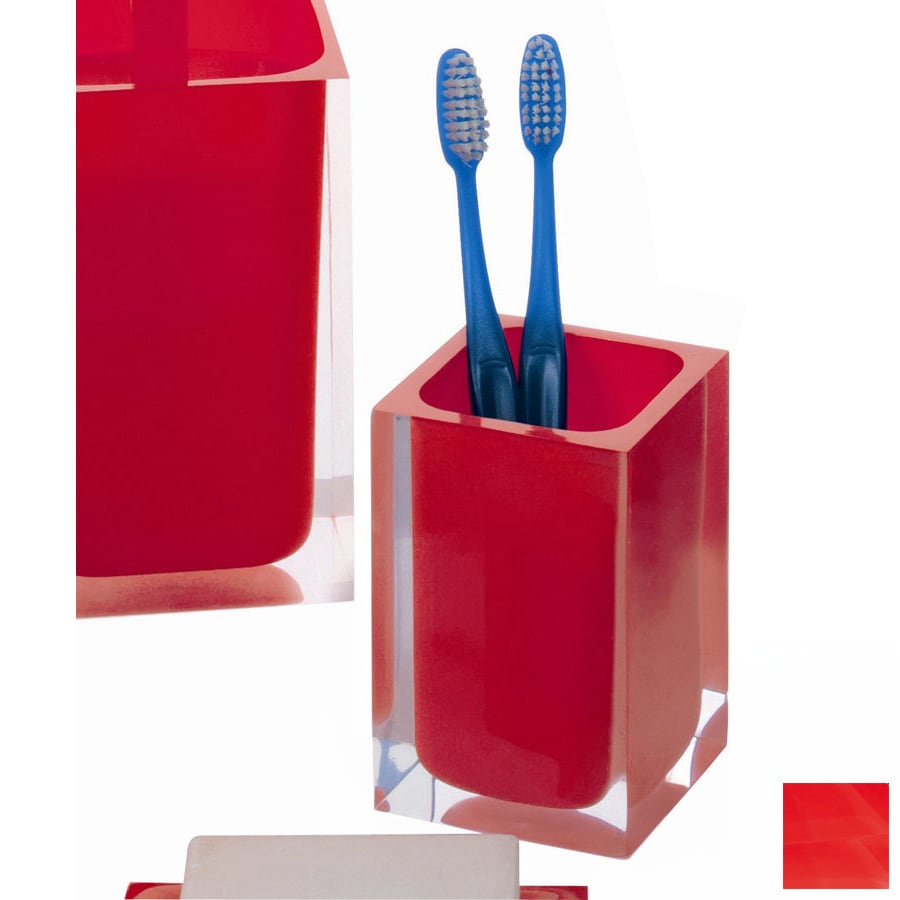Nameeks Gedy Rainbow Red Plastic Tumbler and Toothbrush Holder