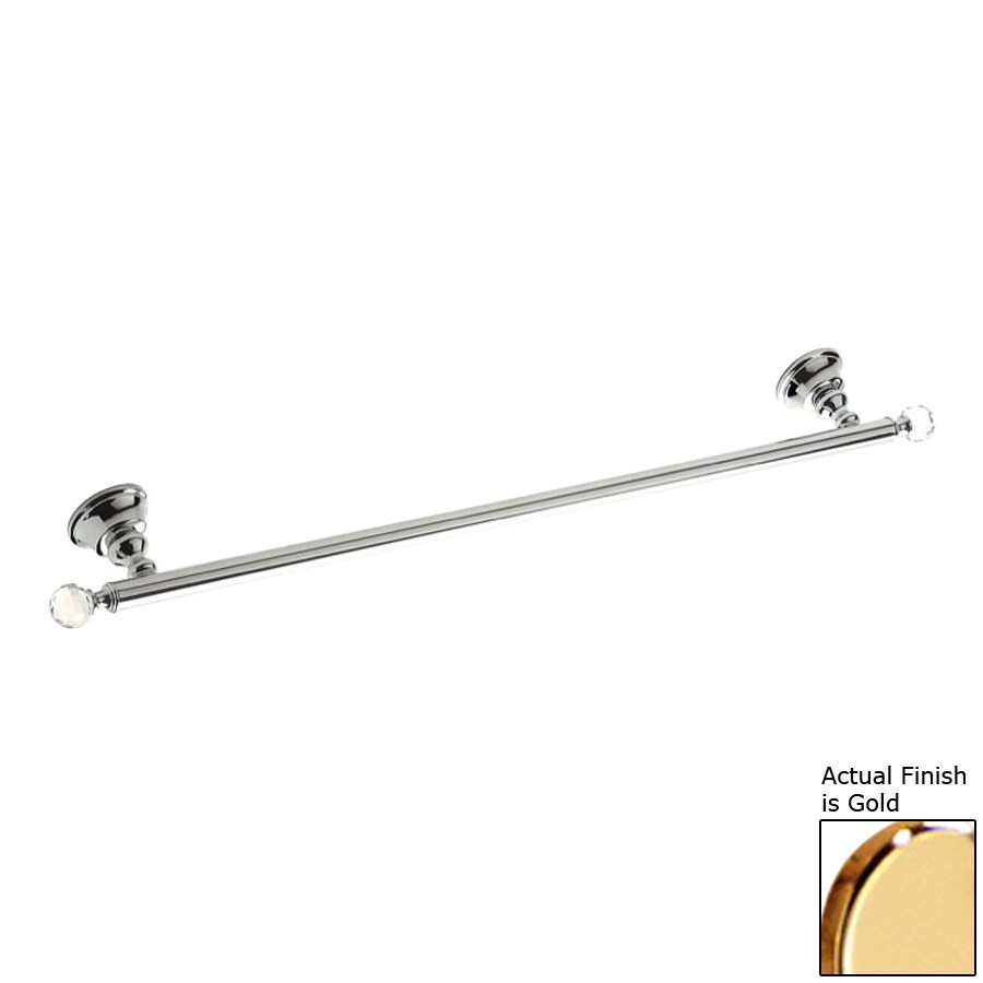 Nameeks Smart Light Gold Single Towel Bar (Common: 24-in; Actual: 24.4-in)