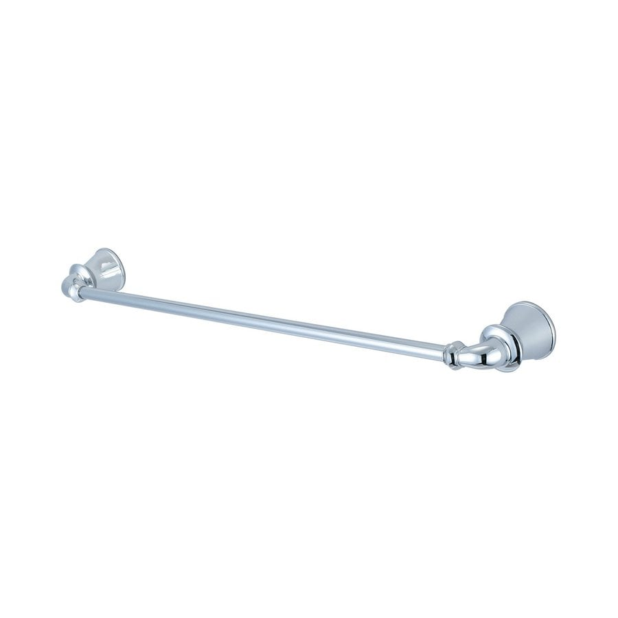 Pioneer Industries Del Mar Polished Chrome Single Towel Bar (Common: 24-in; Actual: 28.438-in)
