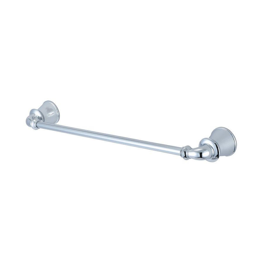 Pioneer Industries Del Mar Polished Chrome Single Towel Bar (Common: 18-in; Actual: 22.438-in)
