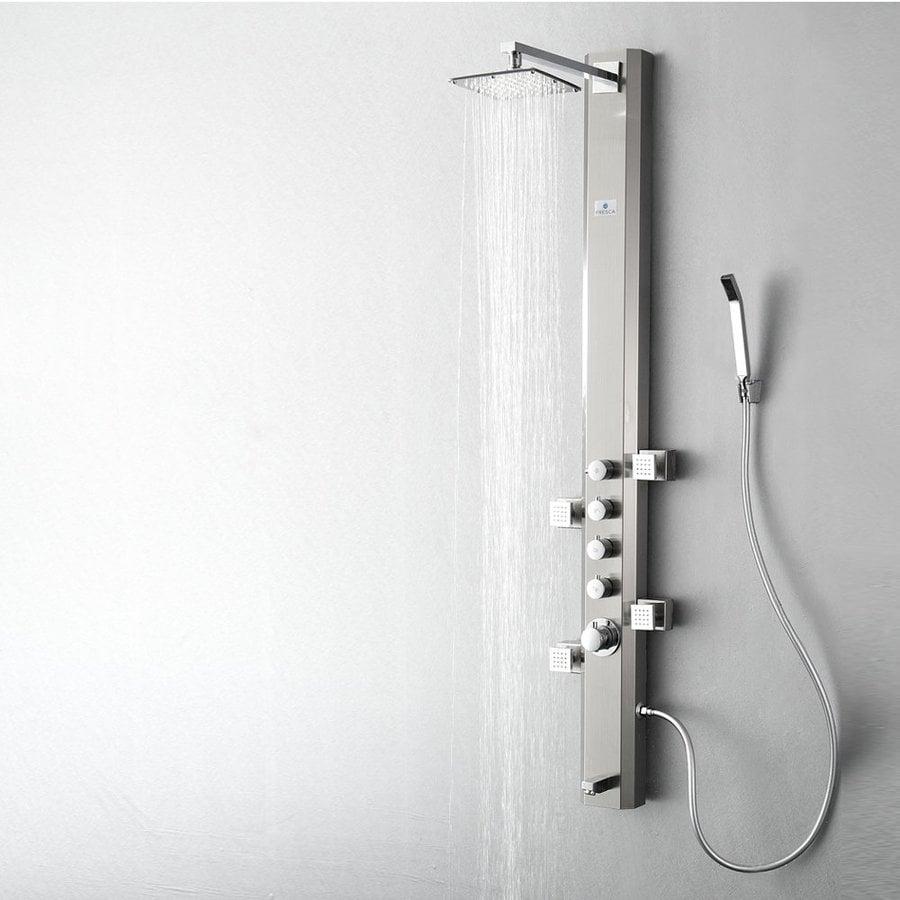 Fresca Prato Brushed Silver Shower Panel System