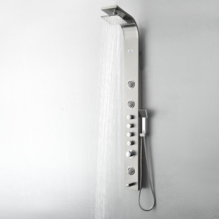 Fresca Geona Brushed Silver 3-Spray Shower System