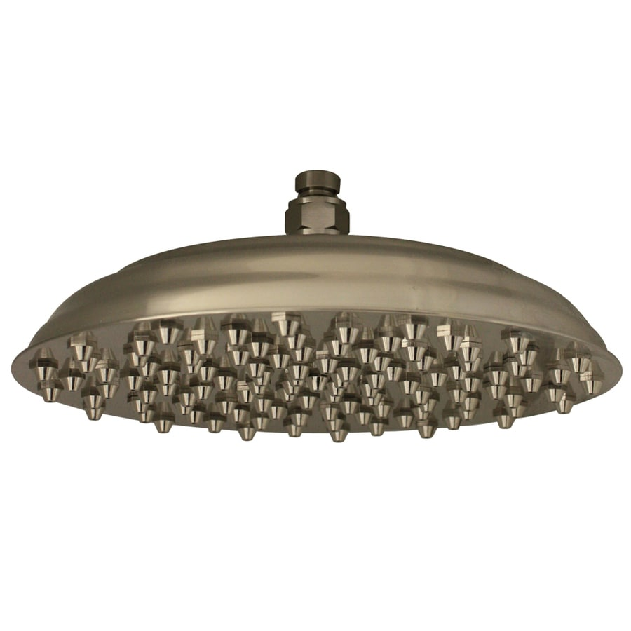 Whitehaus Collection 6-in 2.2-GPM (8.3-LPM) Brushed Nickel Rain Showerhead