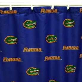 College Covers Florida Cotton Gators Patterneded Shower Curtain 70 In X 72