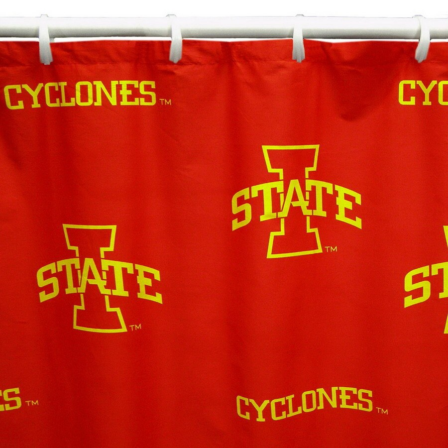 College Covers Iowa State Cotton Iowa State Cyclones Patterned Shower Curtain