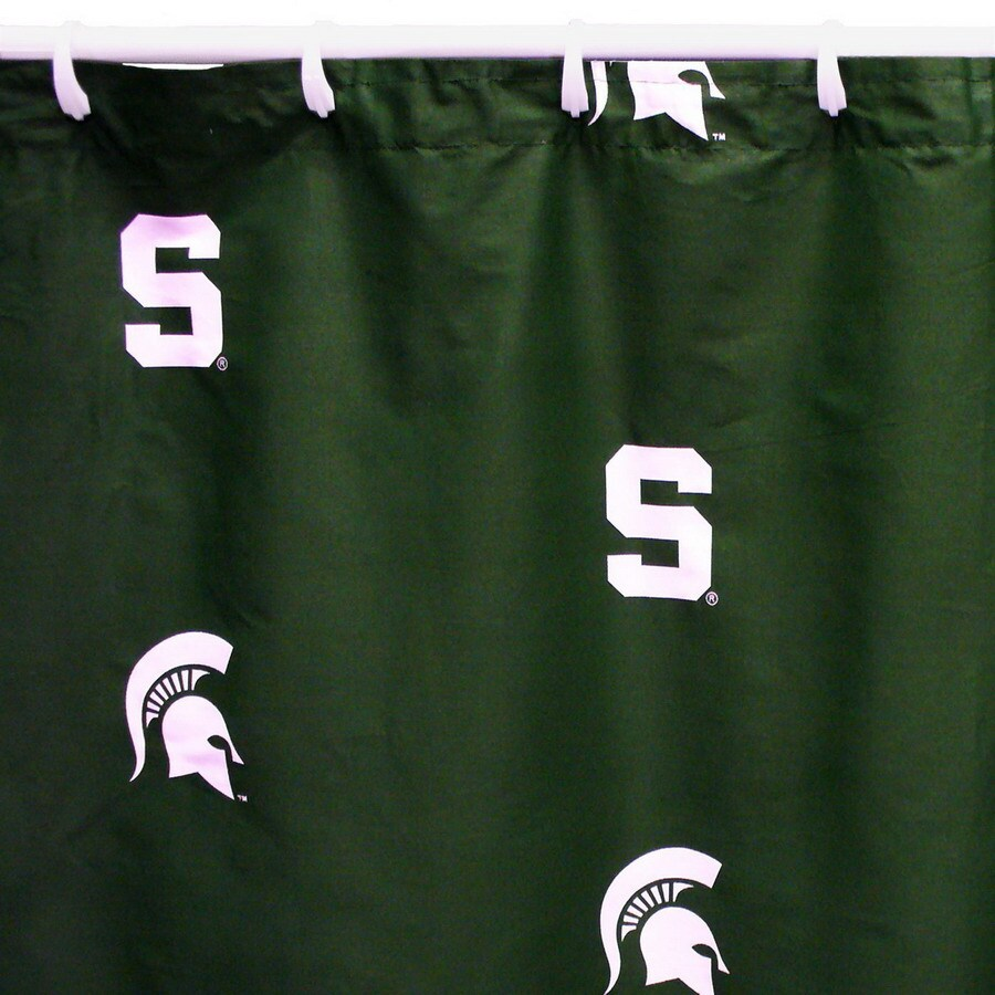 College Covers Michigan State Cotton Michigan State Spartans Patterned Shower Curtain
