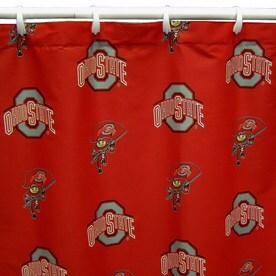 College Covers Ohio State Cotton Buckeyes Patterneded Shower Curtain 70 In X 72
