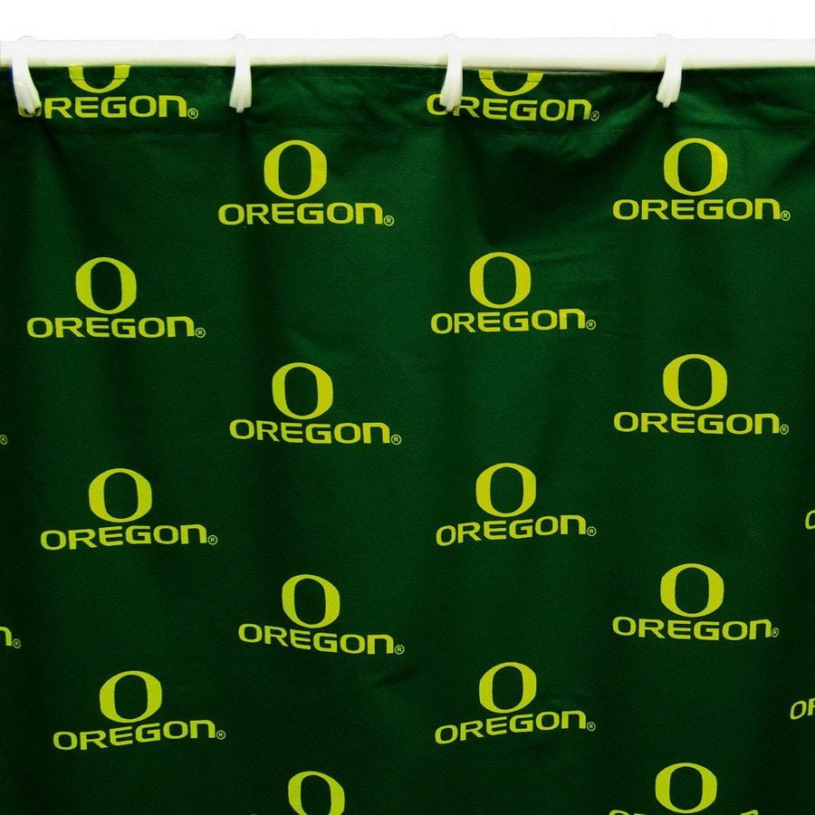 College Covers Oregon Cotton Oregon Ducks Patterned Shower Curtain