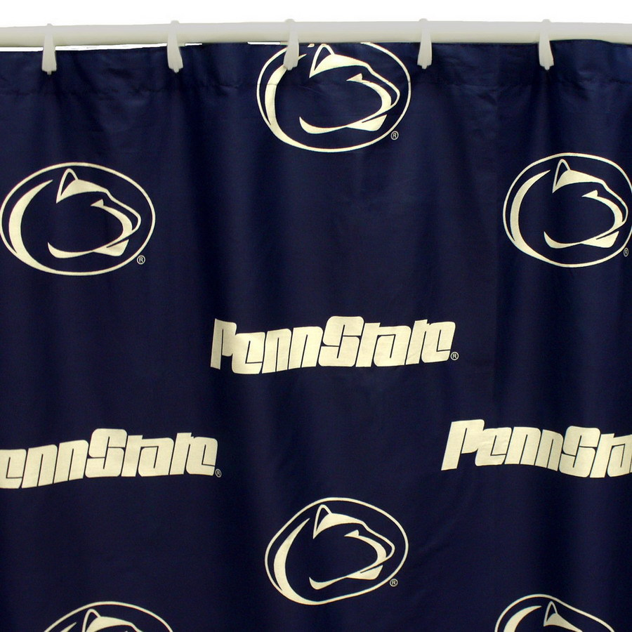 College Covers Penn State Cotton Penn State Nittany Lions Patterned Shower Curtain