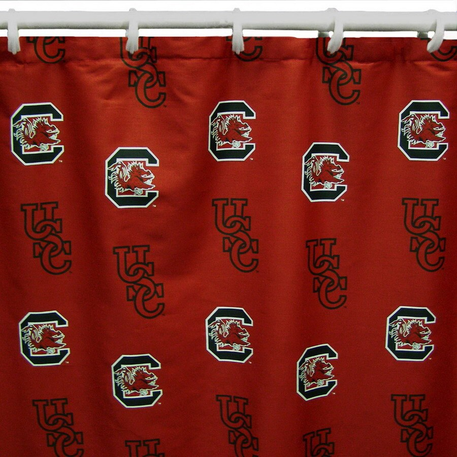 College Covers South Carolina Cotton South Carolina Gamecocks Patterned Shower Curtain