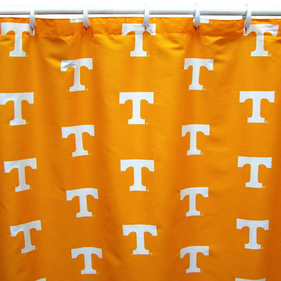 Style selections eva peva print multi fish shower curtain at lowes com - College Covers Tennessee Cotton Tennessee Volunteers Patterned Shower Curtain
