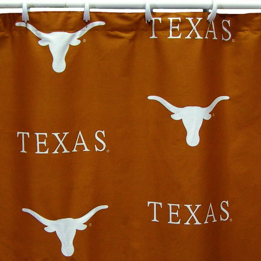 College Covers Texas Cotton Longhorns Patterneded Shower Curtain 70 In X 72
