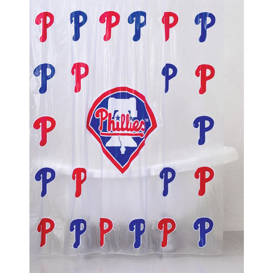 Shop Belle View Vinyl Philadelphia Phillies Patterned Shower ...