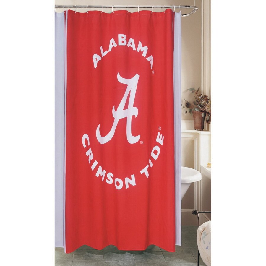 Belle View Collegiate Polyester Alabama Crimson Tide Patterned Shower Curtain