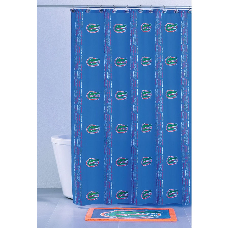 Belle View Florida Polyester Gators Patterned Shower Curtain
