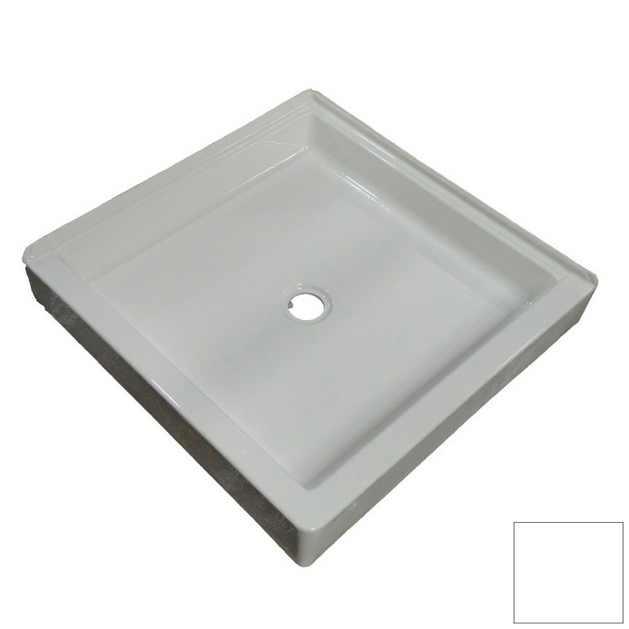 American Acrylic and Injection White Acrylic Shower Base (Common: 36-in W x 36-in L; Actual: 36-in W x 36-in L) with Center Drain
