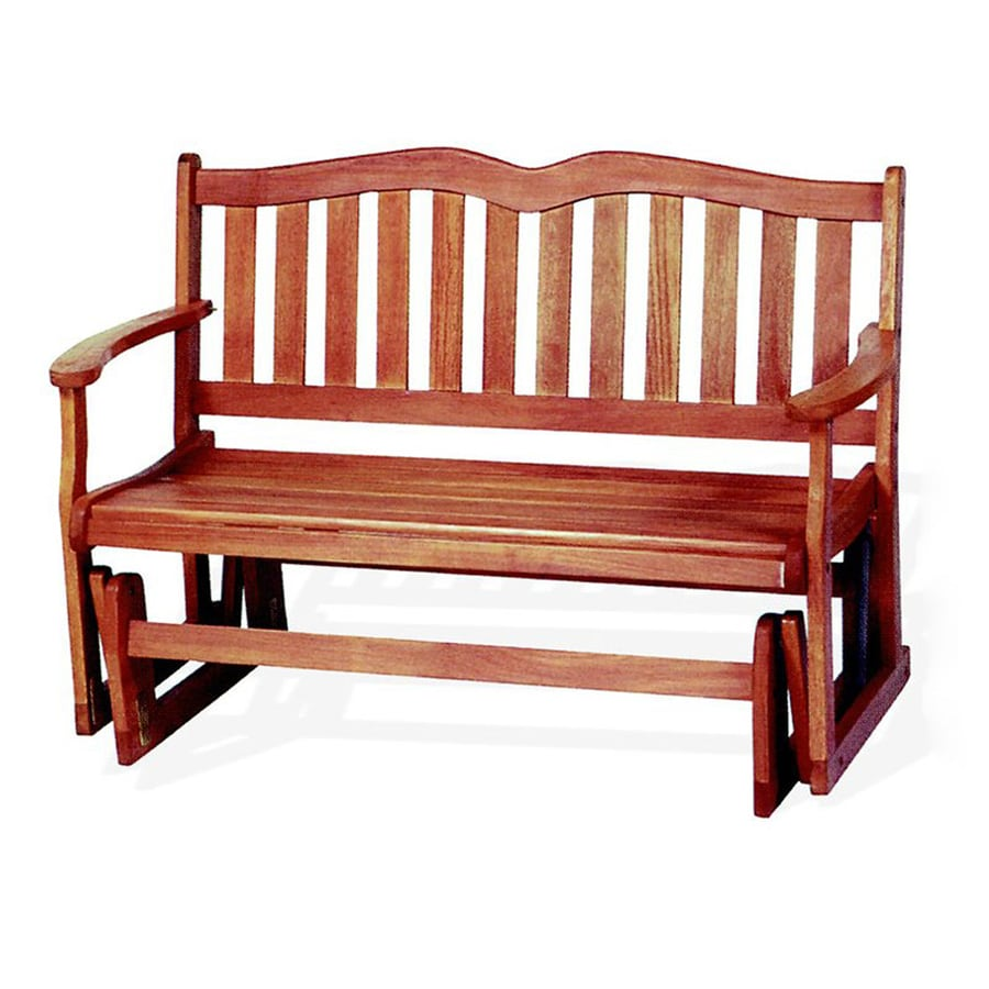 Jordan Manufacturing Alpine 24.8-in W x 51.2-in L Natural Oil Based Eucalyptus Patio Bench
