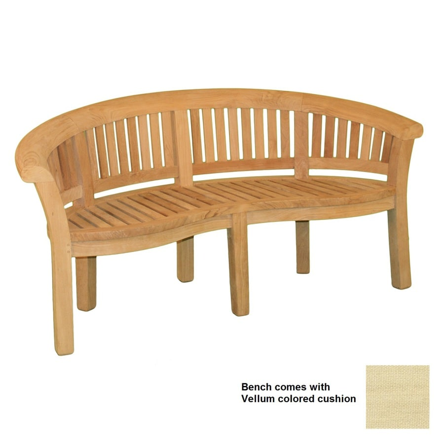 Jewels of Java 68-in L Teak Patio Bench