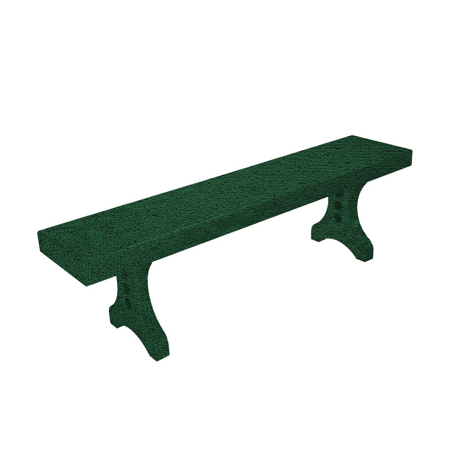 Ofab Designer 14.38-in W x 66-in L Green Tatter Aluminum Patio Bench