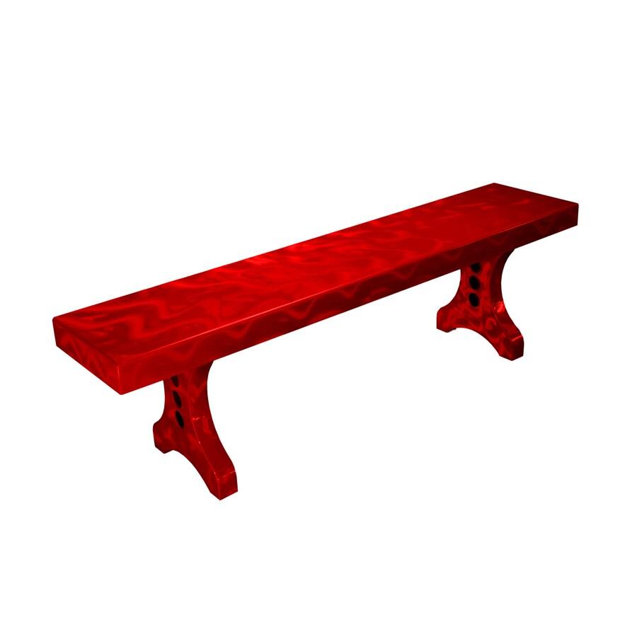 Ofab Designer 14.38-in W x 66-in L Red Translucent Aluminum Patio Bench