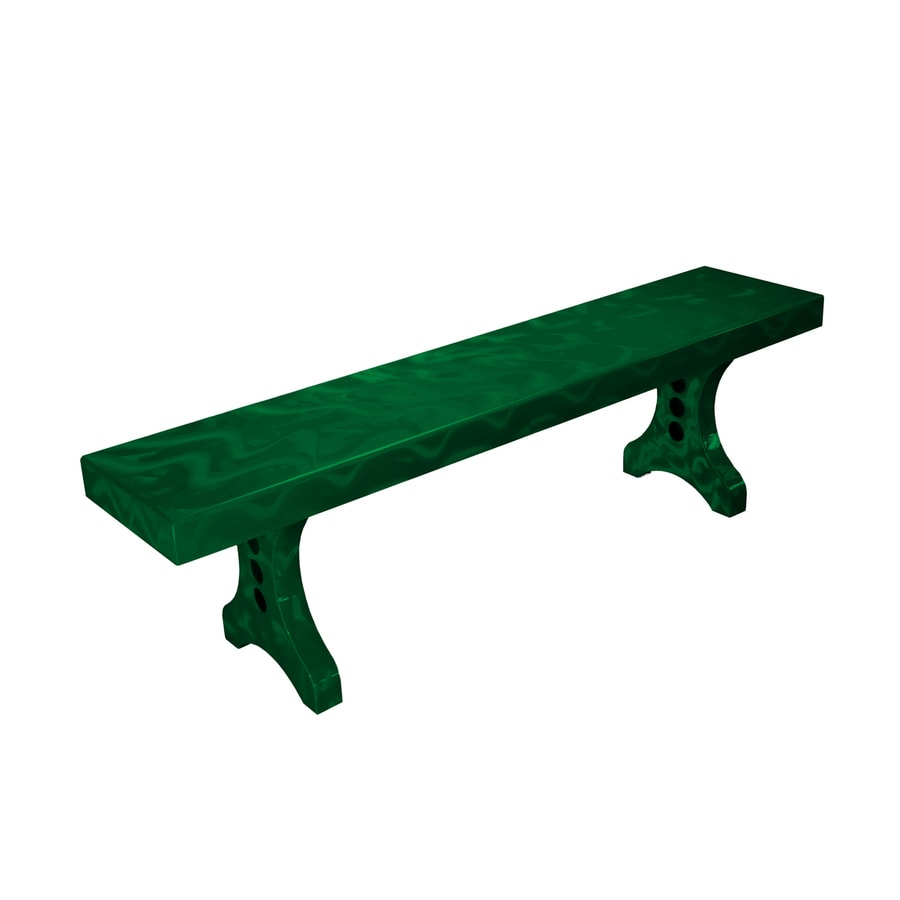 Ofab Designer 14.38-in W x 66-in L Green Translucent Aluminum Patio Bench