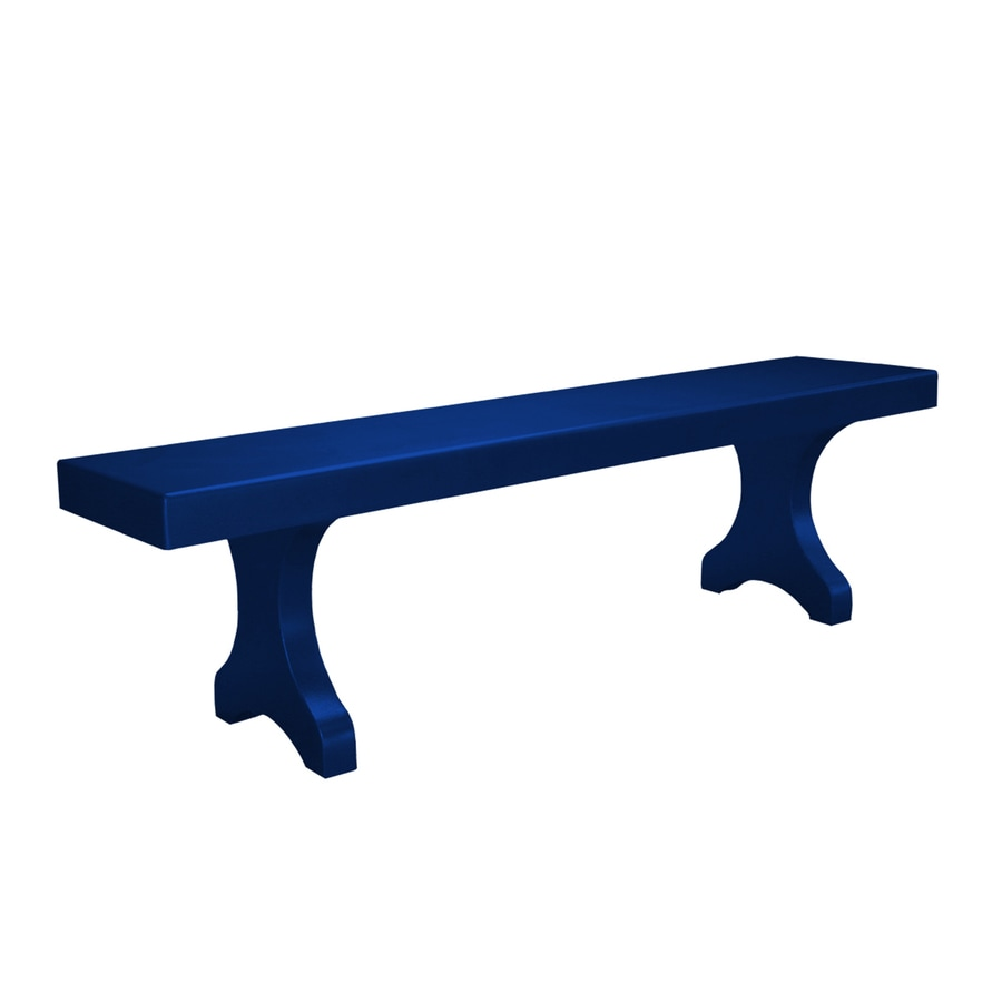 Ofab Designer 14.38-in W x 66-in L Blue Solid Aluminum Patio Bench