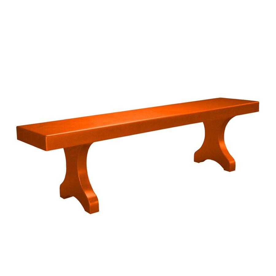 Ofab Designer 14.38-in W x 66-in L Orange Solid Aluminum Patio Bench