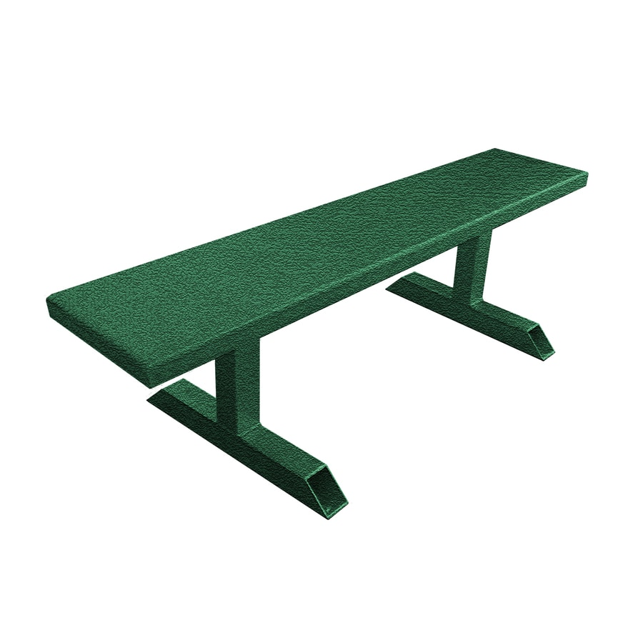 Ofab 14-in W x 66-in L Green Tatter Aluminum Patio Bench