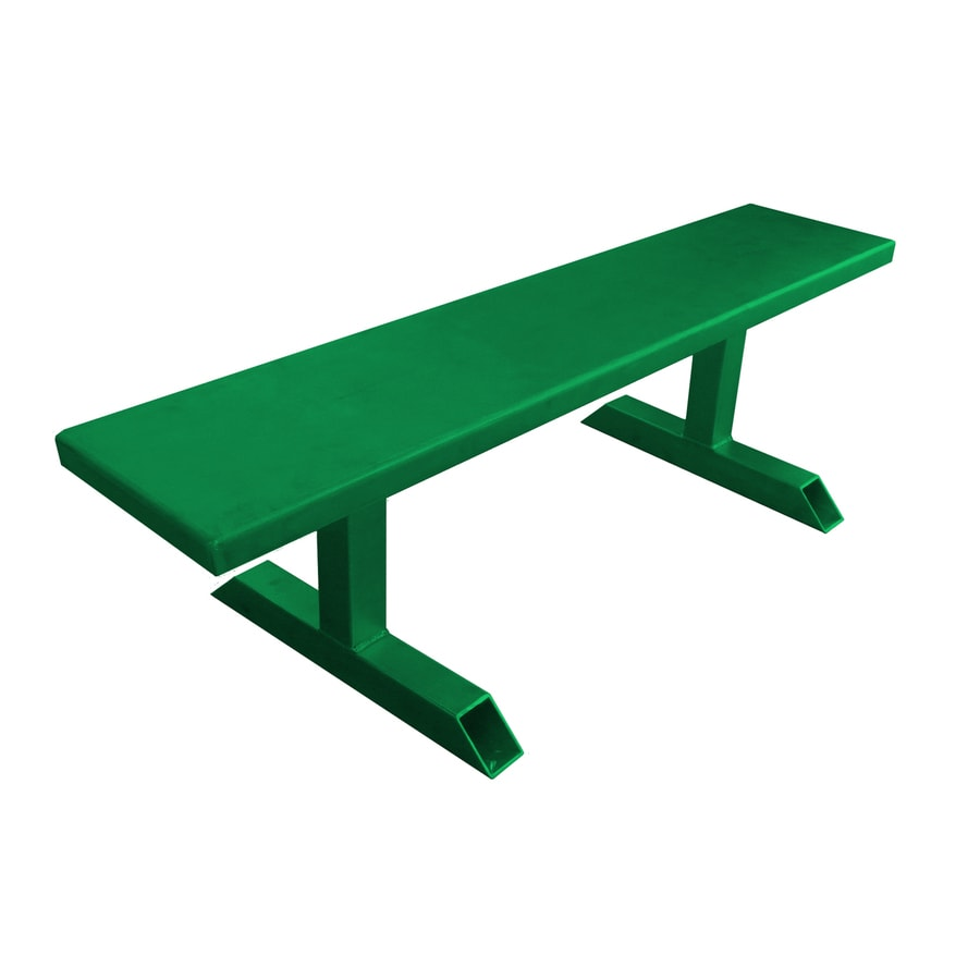 Ofab 14-in W x 66-in L Green Solid Aluminum Patio Bench