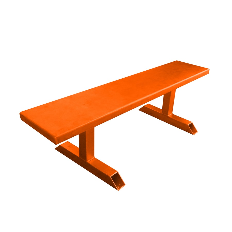 Ofab 14-in W x 66-in L Orange Solid Aluminum Patio Bench