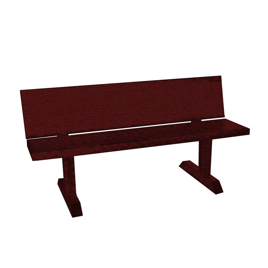 Ofab 14.38-in W x 66-in L Burgundy Tatter Aluminum Patio Bench