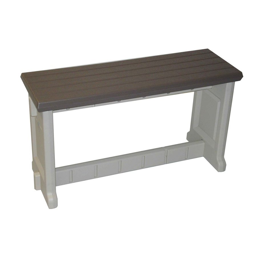 Confer Plastics Patio Essentials 12-in W x 36-in L Portabello Plastic Patio Bench