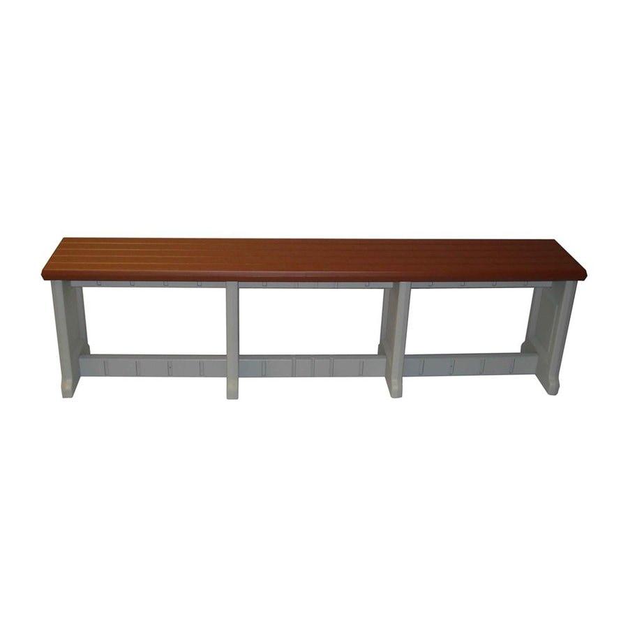 Confer Plastics Patio Essentials 12-in W x 74-in L Redwood Plastic Patio Bench