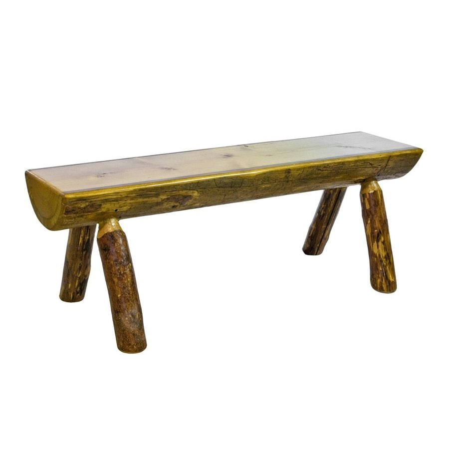 Montana Woodworks Glacier Country Stained and Lacquered 72-in Dining Bench