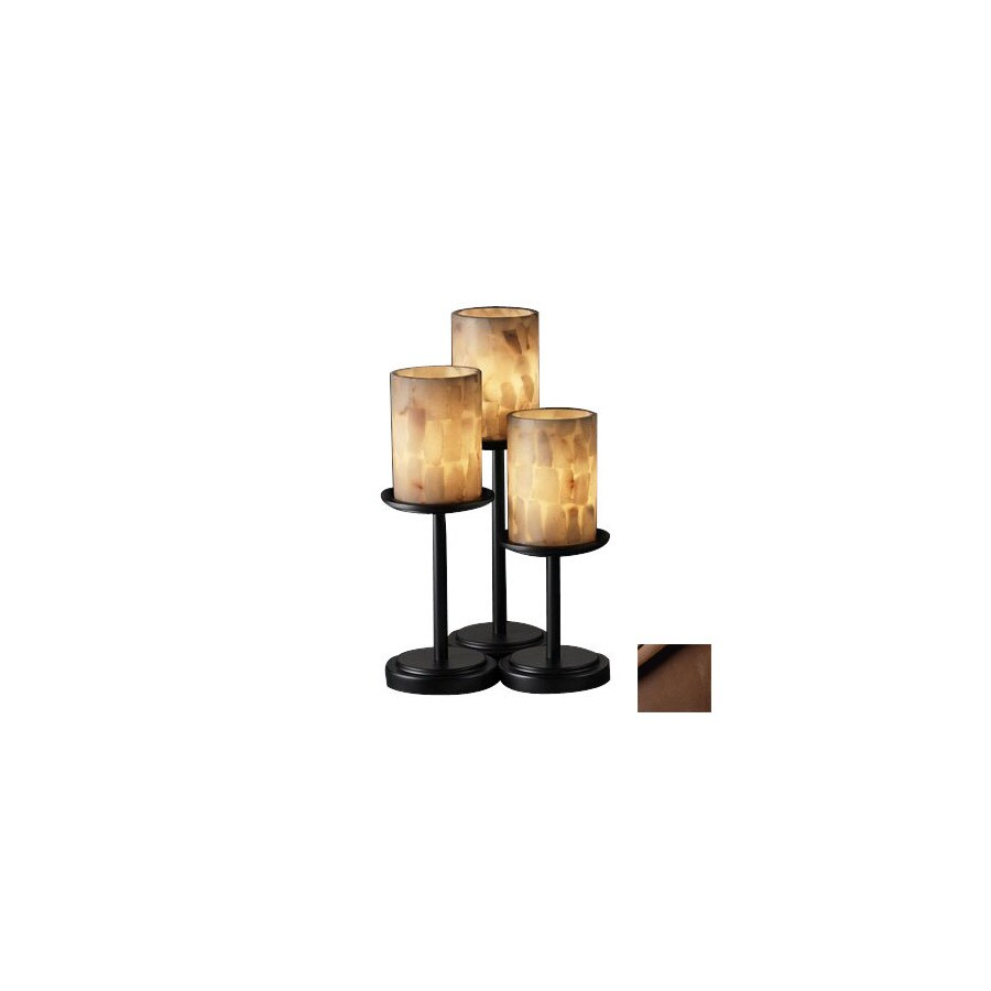 Cascadia Lighting 3-Way Switch Dark Bronze Touch Indoor Table Lamp with Shade