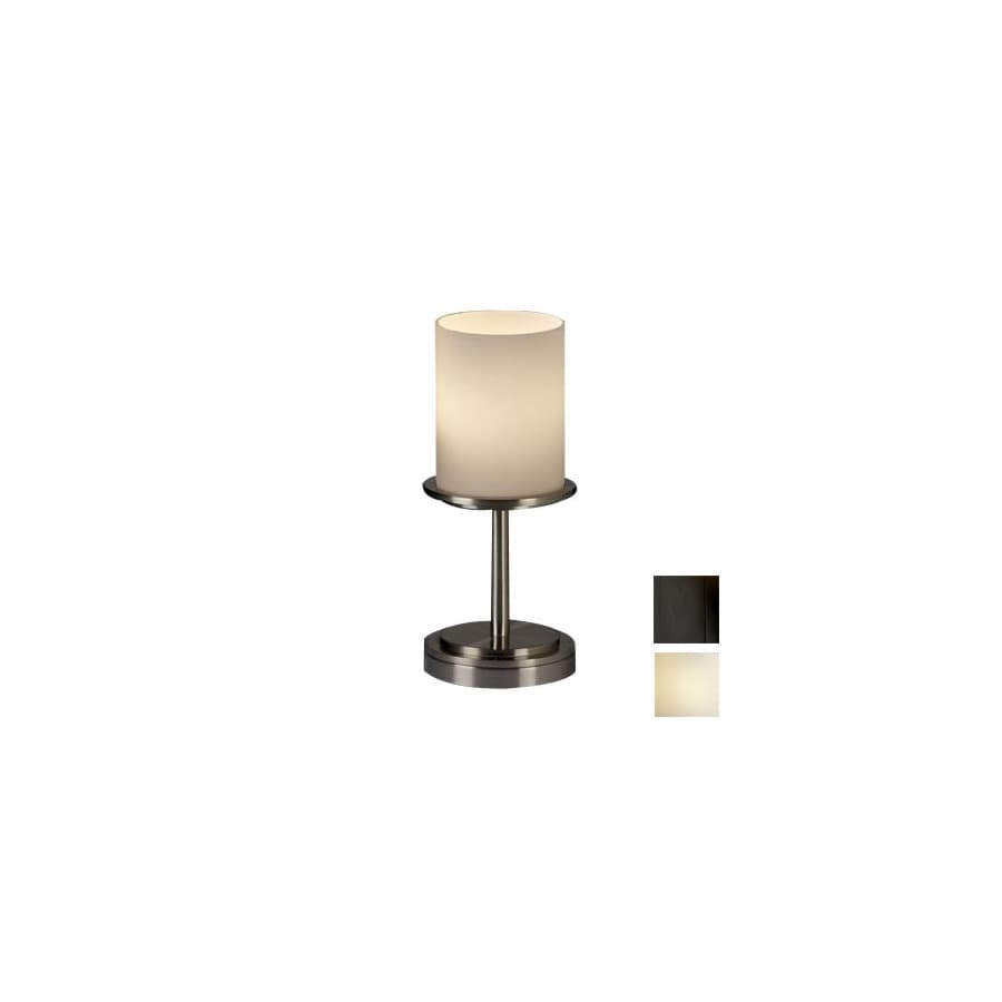 Cascadia Lighting 3-Way Matte Black Touch Table Lamp with Glass Shade