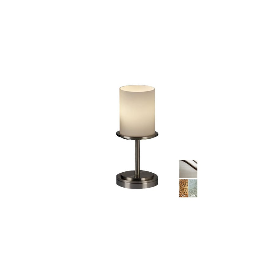 Cascadia Lighting 3-Way Brushed Nickel Touch Table Lamp with Glass Shade