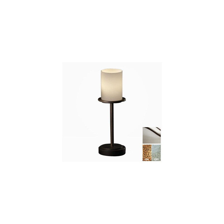 Cascadia Lighting 3 Way Brushed Nickel Touch Table Lamp With Gl Shade