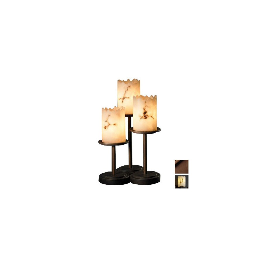 shop cascadia lighting 3 way dark bronze touch table lamp with shade at. Black Bedroom Furniture Sets. Home Design Ideas