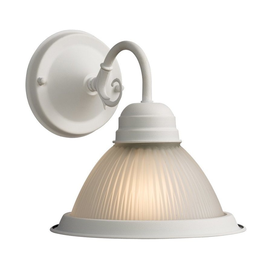 Galaxy Acadia 7.625-in W 1-Light White Arm Hardwired Wall Sconce