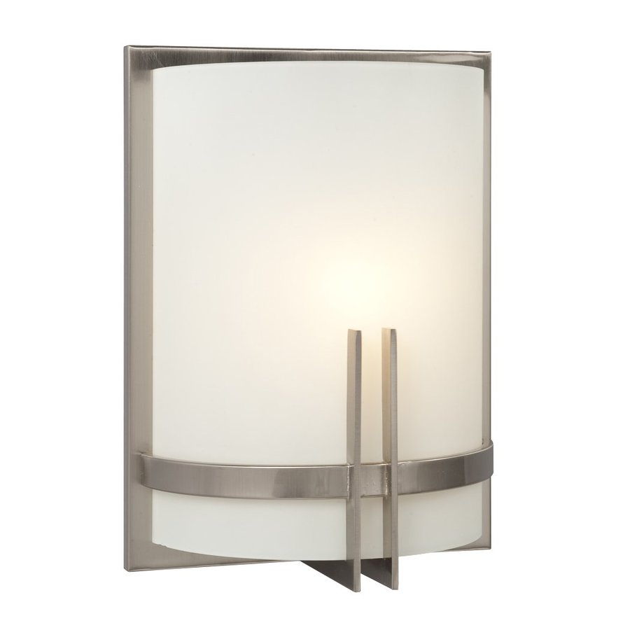 Galaxy Corbett 9-in W 1-Light Brushed Nickel Pocket Wall Sconce
