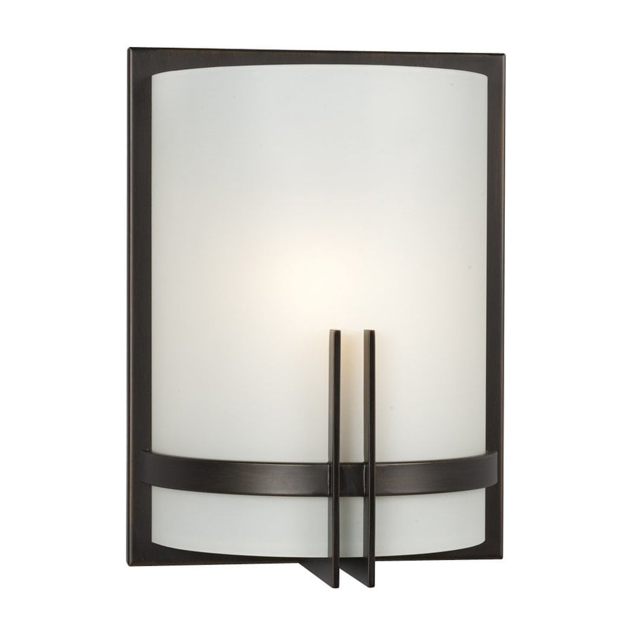 Galaxy Corbett 9-in W 1-Light Oil-Rubbed Bronze Pocket Hardwired Wall Sconce