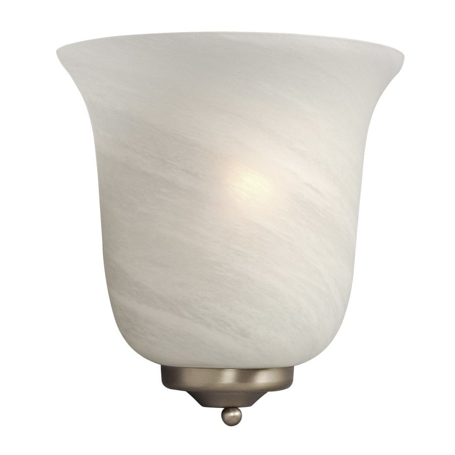 Galaxy 9.25-in W 1-Light Pewter Pocket Hardwired Wall Sconce