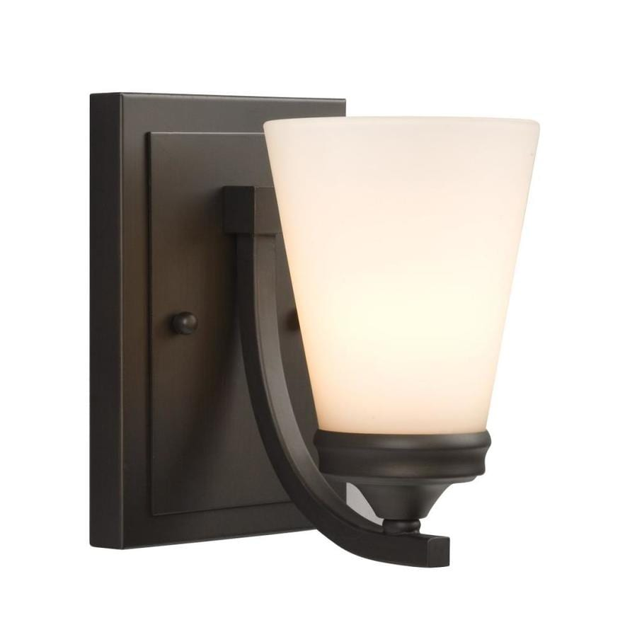 Adjustable Wall Sconce Lowe S : Shop Galaxy Franklin 5.12-in W 1-Light Oil-Rubbed bronze Arm Wall Sconce at Lowes.com