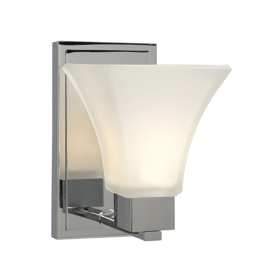 Galaxy Sutton 5.5-in W 1-Light Chrome Arm Hardwired Wall Sconce