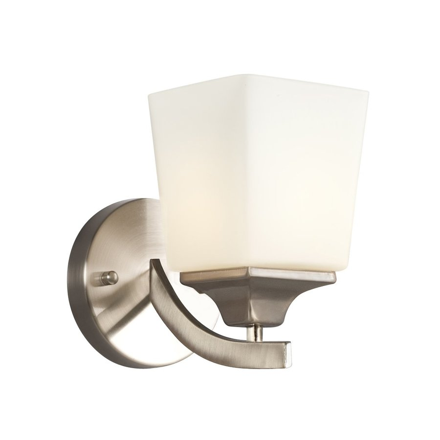Shop Galaxy Newbury 5 In W 1 Light Brushed Nickel Arm Wall Sconce At