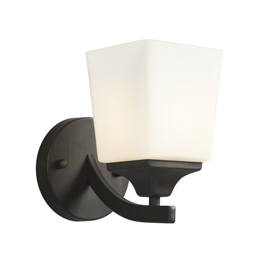 Shop Galaxy Newbury 5-in W 1-Light Oil-Rubbed Bronze Arm Wall Sconce at Lowes.com