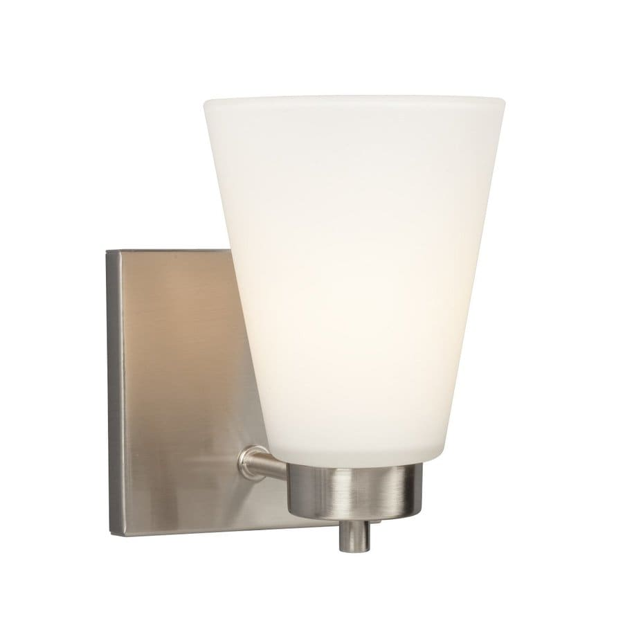 Galaxy Kent 4.5-in W 1-Light Brushed Nickel Arm Hardwired Wall Sconce